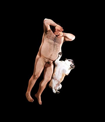 Photographed with my English Bulldog Oliver by Nick Delpesco